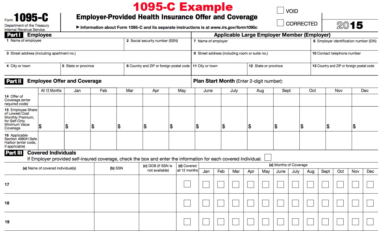 2015 1095 tax form 1095 a 1095 b and 1095 c tax filing example of the 2015 1095 c tax filing form click to enlarge falaconquin